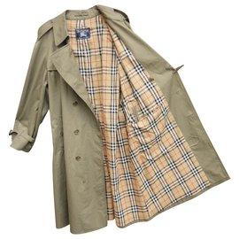 Burberry-Trench Burberry Vintage Taille 56 État Comme Neuf-Kaki