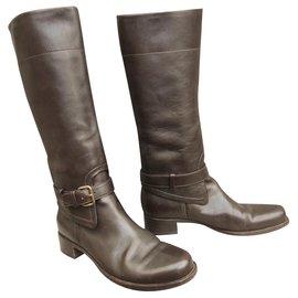 96f4bb6c3516 Prada-riding boots Prada p 39-Dark brown ...
