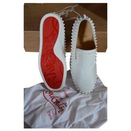 Christian Louboutin-sneakers. size 39,5 white-White