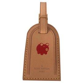 Louis Vuitton-Charmes de sac-Rouge,Beige