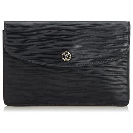 Louis Vuitton-Pochette Epi Noire Louis Vuitton-Noir
