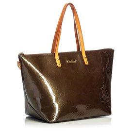 Louis Vuitton-Louis Vuitton Brown Vernis Bellevue PM-Marron,Bronze