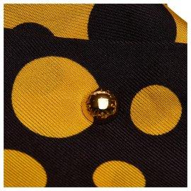 Louis Vuitton-Foulard en soie imprimé Yayoi Kusama noir Louis Vuitton-Noir,Jaune