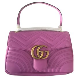 Gucci-GUCCI MARMONT SAC BAG MOYEN NEUF-Rose
