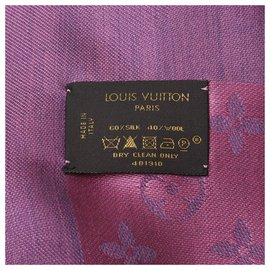Louis Vuitton-FOULARD STOLE LOUIS VUITTTON-Rose