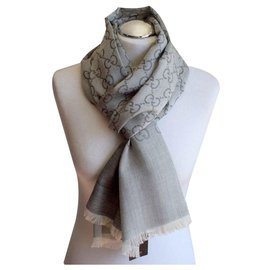 Gucci-GUCCI SCARF NEW  GREY-Gris anthracite