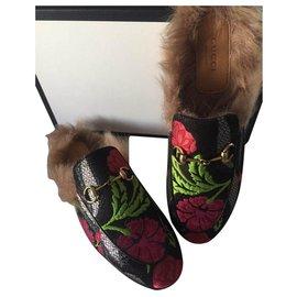 Gucci-Gucci pantoufles loafer princeton shoes mules-Multicolore