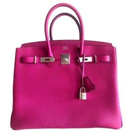 Hermès-HERMES BIRKIN 35 Purple Rose-Pink