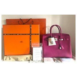 Hermès-Hermes Birkin 35 Rose Pourpre-Rose