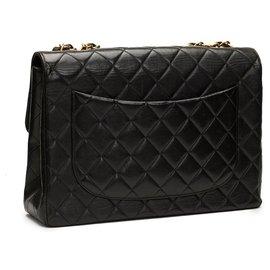 Chanel-Classic jumbo single flap-Black
