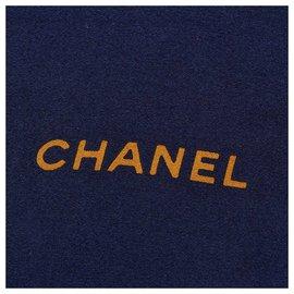 Chanel-Chanel Blue CC Print Silk Scarf-Blue,Multiple colors