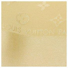 Louis Vuitton-Écharpe Monaco en soie monogram marron Louis Vuitton-Marron,Beige