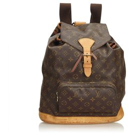 Louis Vuitton-Louis Vuitton Monogram Brown Montsouris GM-Marron