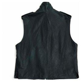 Hermès-DARK GRAY LEATHER FR58/44-Dark grey