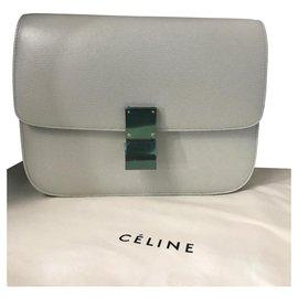 Céline-CELINE CLASSIC BOX BAG BAG NEW MEDIUM SIZE-Grey