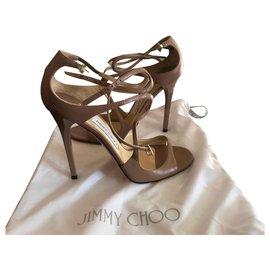 Jimmy Choo-Sandals-Beige