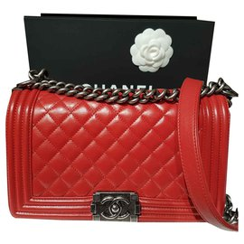 Chanel-Chanel Boy-Red