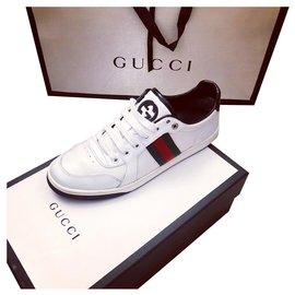 Gucci-Baskets Gucci-Blanc