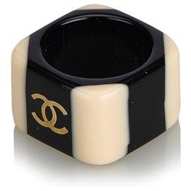 Chanel-Bague Chanel Noir CC-Noir,Rose