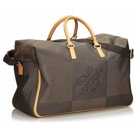 Louis Vuitton-Louis Vuitton Brown Damier Geant Souverain-Marron