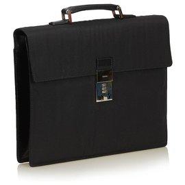 Gucci-Gucci Black Nylon Briefcase-Black