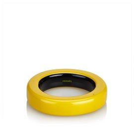 Hermès-Hermes Yellow Resin Bangle-Yellow