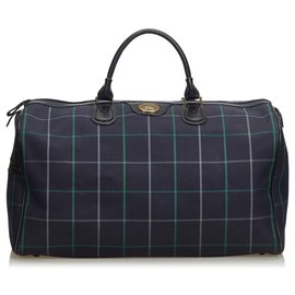 Burberry-Burberry Blue Jacquard Travel Bag-Blue,Multiple colors,Navy blue