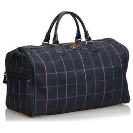 Burberry-Burberry Blue Jacquard Travel Bag-Blue,Multiple colors,Navy blue