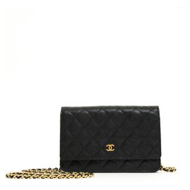Chanel-WOC CAVIAR BLACK GOLD-Black