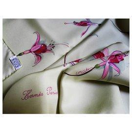 Hermès-Fleurs de fuchsia-Multicolore