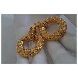 Yves Saint Laurent-PENDANT LOOPS CIRCLE-Golden