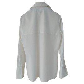 Gucci-BLOUSE GUCCI en coton blanc-Blanc