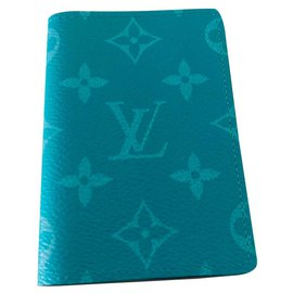 Louis Vuitton-Wallets Small accessories-Light green,Turquoise
