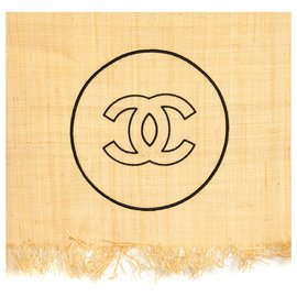 Chanel-BEACH TOWEL AND CARPET-Brown,Black,Beige