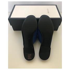 Gucci-Mules avec des cristaux-Bleu