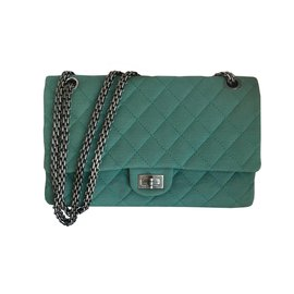 Chanel-2.55 266 REISSUE FLAP BAG-Light green,Turquoise