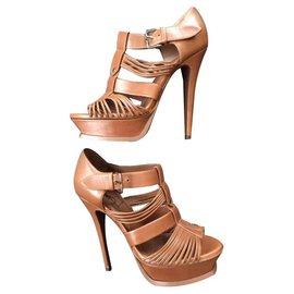 Yves Saint Laurent-Sandals-Brown
