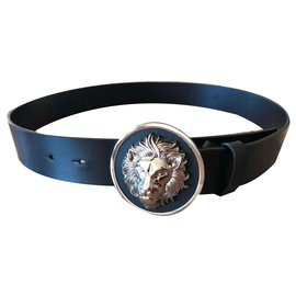 Versace-Belts-Black,Silvery