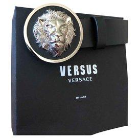 Versace-Cintos-Preto,Prata