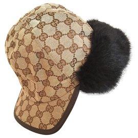 Gucci-Chapeaux-Noir,Marron clair,Marron foncé