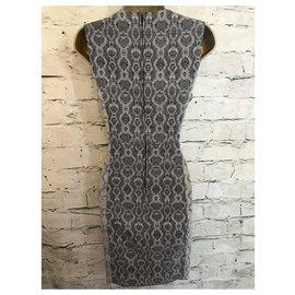 Badgley Mischka-Dresses-Black,White,Grey