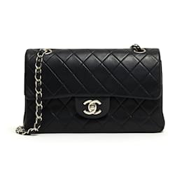 Chanel-TIMELESS CLASSIC 23 NAVY SILVER-Silvery,Navy blue