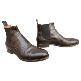 Gucci-beatle boots Gucci p 37-Marron foncé