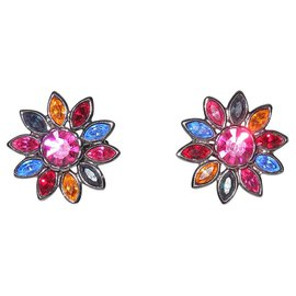 Yves Saint Laurent-Boucles d'oreilles-Multicolore