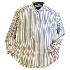 Ralph Lauren-chemises-Blanc,Bleu,Bleu Marine