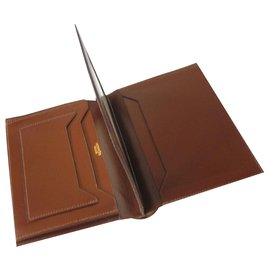 Hermès-Wallet card holder-Cognac
