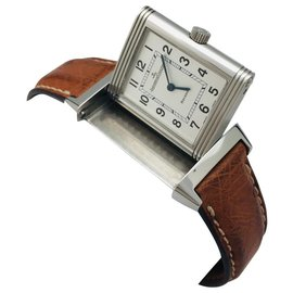 """Jaeger Lecoultre-Jaeger Lecoultre Watch, """"Reverso"""", steel on leather.-Other"""