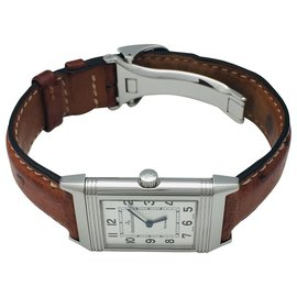 "Jaeger Lecoultre-Jaeger Lecoultre Watch, ""Reverso"", steel on leather.-Other"