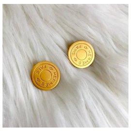 Hermès-Boucles d'oreilles Clou de Selle Hermès-Doré