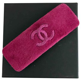 Chanel-Chanel velvet barrette-Purple